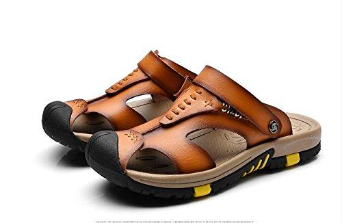 JiZhi sandali / pistoni di estate antisdrucciolevoli uomo / traspirante / infradito / scarpe da spiaggia / casuale esterno del tacco piatto / Walking , brown , 41