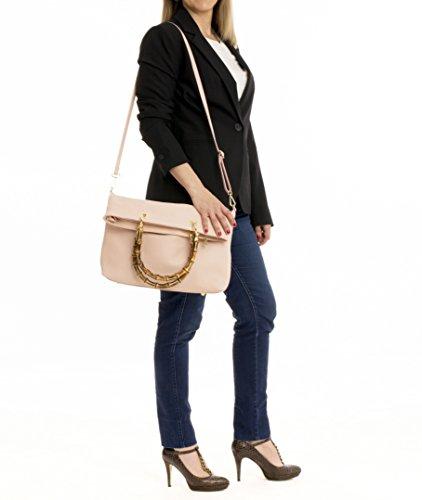 en pouvez Rose Tote Bambou Bag MASSIMA Modèle Main Bandoulière à Alessia femmes prendre Sacs Poignées Épaule sac Vous Luxueuses comme un BARONI Tendance à le des wPqvXq4OY