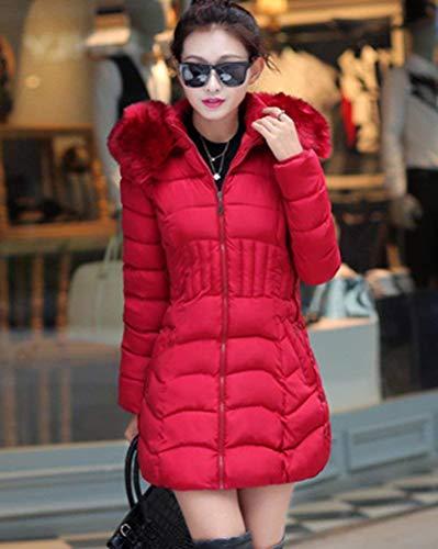Cuello Invierno Chaqueta Acolchado Capucha Largo Abrigos De Mujer I8OqwS