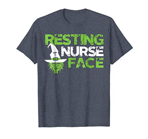 Mens Resting Nurse Face Witch Halloween Costumes T-Shirt