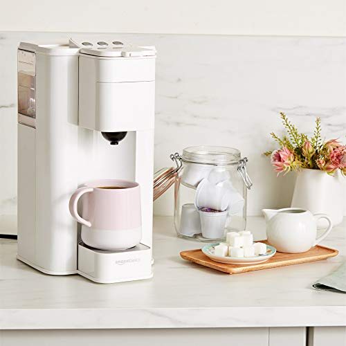 AmazonBasics Single Serve Capsule Coffee Maker, White