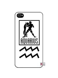 Aquarius Sign Zodiac Horoscope Symbol iPhone 5 Quality Hard Snap On Case for iPhone 5/5s - AT&T Sprint Verizon - Black Frame