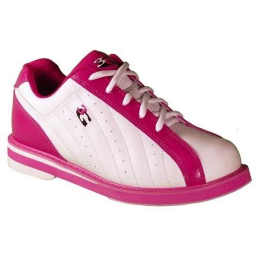 3G Women's Kicks Bowling Shoes (7.5, White/Pink)