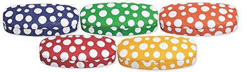 Hard Eyeglass Case, Glasses Holder For Women, Men, Girls, Boys- Polka Dot, Orange