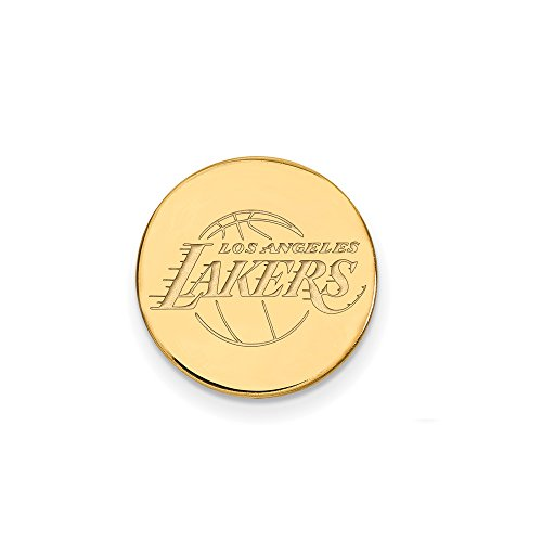 NBA Los Angeles Lakers Lapel Pin in 14K Yellow Gold by LogoArt