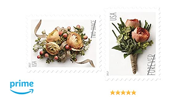 USPS Forever Stamp: Celebration Corsage and Boutonniere Combination Package  (1 Sheet of Each)