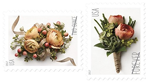 USPS Forever Stamp: Celebration Corsage and Boutonniere Combination Package (5 Sheets of each) Celebration Package