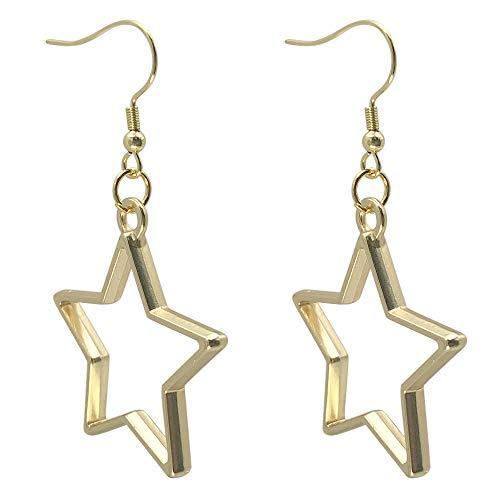 Sabai NYC Eighties Glam Rock Star Hoop Earrings on Stainless Steel Earwires (Matte Goldtone)