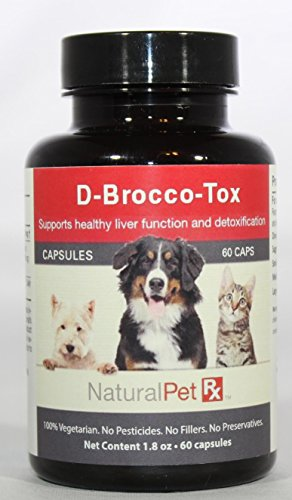 Natural Pet RX D-Brocco-Tox Supports Healthy Liver Function and Detoxification (60 Capsules) by Natural Pet Rx