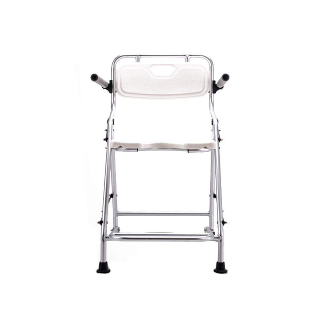 Beauty Bathroom Aluminum Alloy Elderly Fold Bath Chair Pregnant Woman Non-Slip Shower Chair Disabled Bath Stool by BEAUTY--shower stool