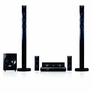 LG BH9431PW 1460W 3D Blu-Ray Theater System with Smart TV, Sound, Wireless Rear Speakers, Tall Fronts (Black Cones) (2014 Model)