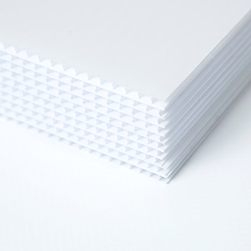 Coroplast for Guinea Pig Cage 18 x 24-6 Corrugated Plastic Sign Boards - Plastic Sheets - Blank Yard Signs - Coroplast Sheets - Plastic Panels for A-Frame Sidewalk Signs - 6 Pack