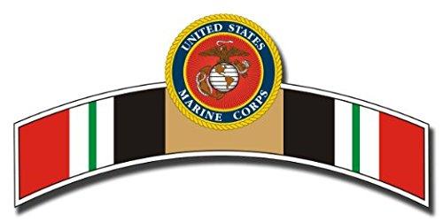 Marine Corps Ribbon (United States Marine Corps Iraq Ribbon Decal Sticker 5