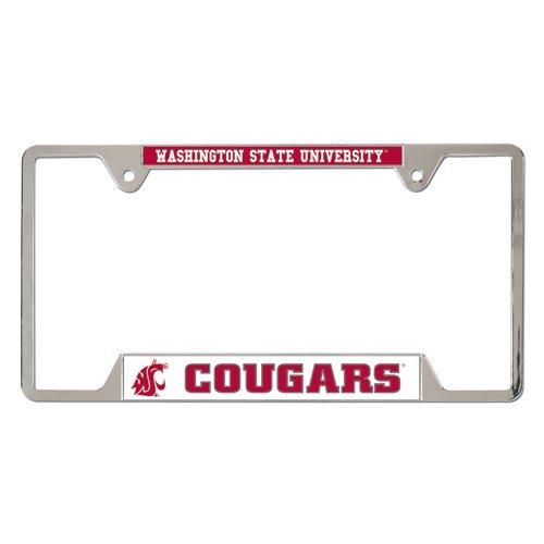 WinCraft NCAA Washington State University 23116010 Metal License Plate Frame