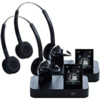 Jabra PRO 9465 Duo Wireless Headset with Touchscreen for Deskphone, Softphone & Mobile Phone (2-Pack)