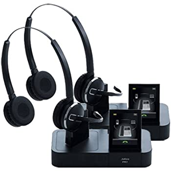 7d49966bad7 Jabra PRO 9465 Duo Wireless Headset with Touchscreen for Deskphone,  Softphone & Mobile Phone (2-Pack)