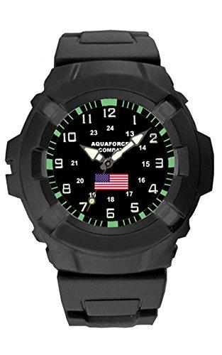 Aqua Force USA - Reloj de Campo de Combate con Bandera Estadounidense (50 m,