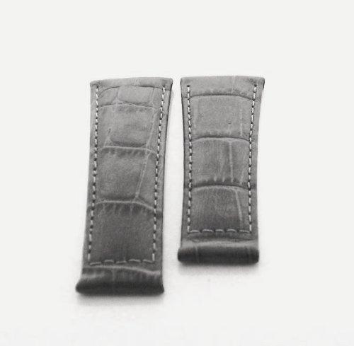 Leather Strap Italian for Rolex Daytona Watch Grey Ws #5e