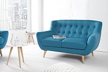 Casa Padrino Chesterfield 2er Sofa Blau Aus Dem Hause Wohnzimmer