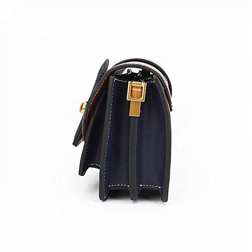 Cuero Hombro Retro Buckle Cuadrado Bag de Pequeño Red Belt Messenger Wine Simple Ocio de Bolso wqAxfgf8