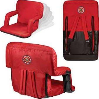 NCAA Louisiana Lafayette Ragin Cajuns Ventura Portable Reclining Seat, Red