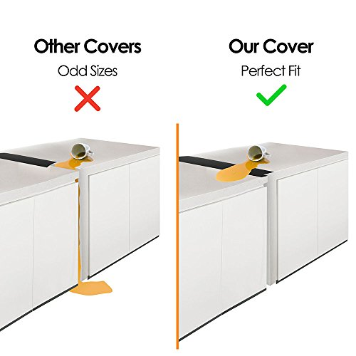 Review Linda's Silicone Kitchen Stove Counter Gap Cover Long & Wide Gap Filler (2 Pack) Seals Spills Between Counters, Stovetops, Washing Machines, Oven, Washer, Dryer | Heat-Resistant and Easy Clean (Black)
