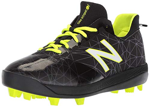(New Balance Boys' Furon V1 Molded Soccer Shoe Black, 7 M US Big Kid)