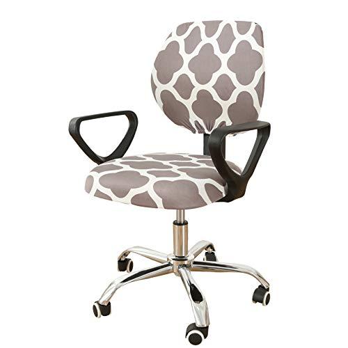 Mingfuxin - Funda elastica separada para silla de escritorio extraible y resistente, para silla giratoria de oficina, silla giratoria y reposabrazos de ordenador