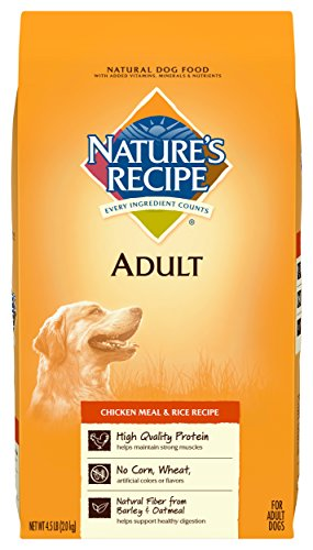 Nature's Recipe Adult Dog Food Dry, Lamb Meal & Rice Recipe, 30-Pound