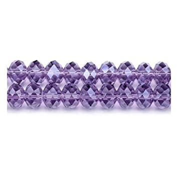 eef2f7e0556df Strand 70+ Violet Czech Crystal Glass 6 x 8mm Faceted Rondelle Beads  GC3537-3 (Charming Beads)