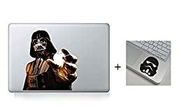 Dark Darth Vader Star War Evil Cartoon Character Decal Sticker for Macbook Laptop Air Pro Retina 13 Inch Cool---Get 2 Sticker- A Free Wrist Sticker
