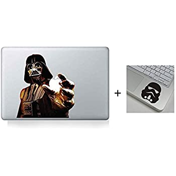 Dark darth vader star war evil cartoon character decal sticker for macbook laptop air pro retina 13 inch cool get 2 sticker a free wrist sticker
