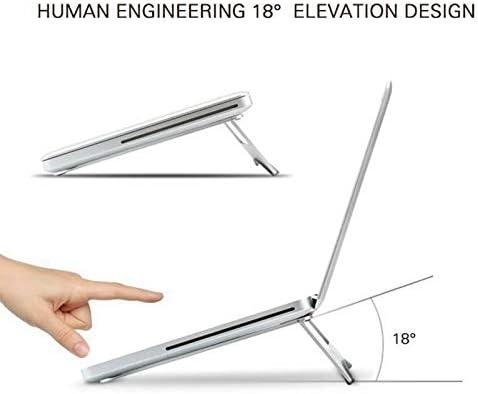 OUYAWEI Aluminum Alloy Foldable Laptop Bracket Cooling Base Portable Notebook Stand Holder
