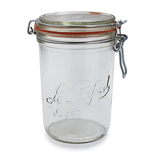 Le Parfait French Super Terrine Wide Mouth Jar - 1000g with 100 mm Gasket (French Jam Jars compare prices)
