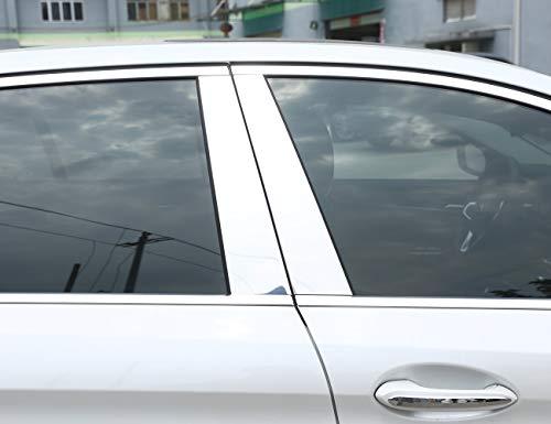 for 18 BMW 5 Series Aluminum Alloy Window Column Decorative Cover Trim, Aluminum Alloy car Accessories