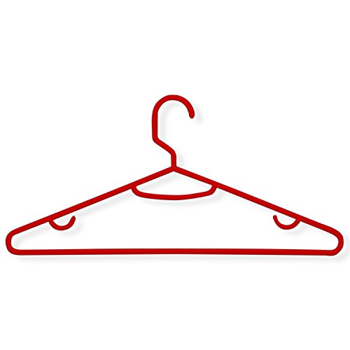 Honey-Can-Do HNG-01522 Recycled Plastic Hangers, 15-Pack, Red