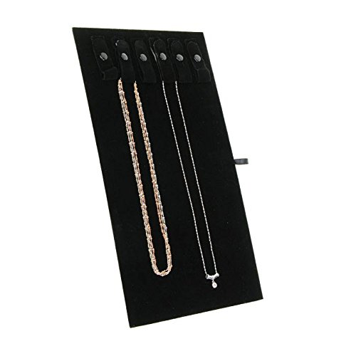 Black Velvet Jewelry Chain/Necklace Display Board ~ Holds 6 Pieces of Jewelry ()