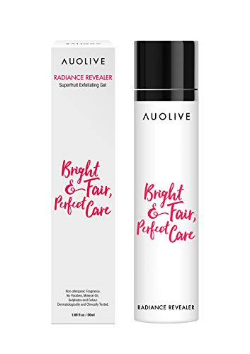Auolive Award Winning Beadless Face Exfoliator - Best for Exfoliating & Removing Dead Skin Cells, Brightening & Refining Pores. Gentle & Water-based. For Normal, Combination, Dry, Oily or Sensitive.