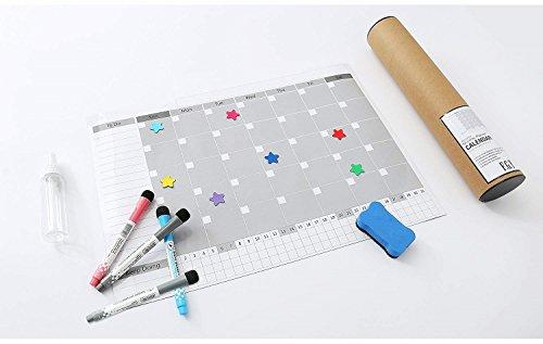Magnetic Fridge Calendar Dry Erase, 2018 White Board Calendar Planner for Kitchen Refrigerator, 17'' x 12'' Large Monthly Erasable Whiteboard Calendar Set by F.G.Y (Image #6)