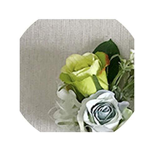 Corsage Bracelet Silk Flower Fashion Gray Bridesmaid Hand Flowers,1 Piece corsage3