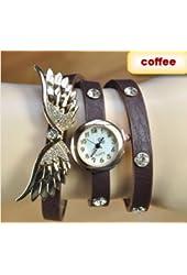 2014 new style fashion ladies watches wing rhinestone gold plated bracelet JEW SJA0846535262CO TYPE 5