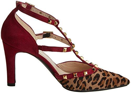 lodi RAS-Inogo, Zapatos con Tira Vertical Para Mujer, Varios Colores (Pantera Natural-Ante Rubi), 36 EU