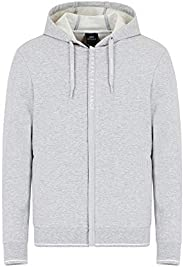 AX Armani Exchange Mens Logo Zipper Full Zip Hooded Sweatshirt Hooded Sweatshirt