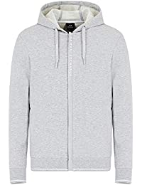 A|X Armani Exchange Men's Logo Zipper Full Zip Hooded Sweatshirt