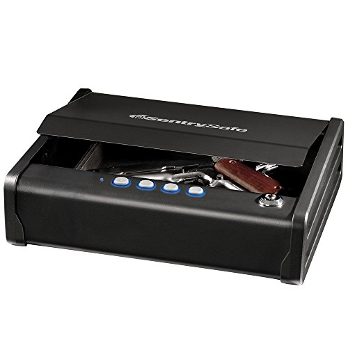(SentrySafe QAP1E Gun Safe with Digital Keypad One Handgun Capacity)