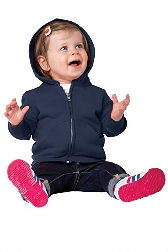 Precious Cargo unisex-baby Full Zip Hooded Sweatshirt 12M Navy