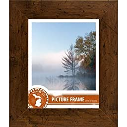 Craig Frames FM74DKW 24 by 36-Inch Picture/Poster Frame, Smooth Grain Finish, 2-Inch Wide, Dark Brown