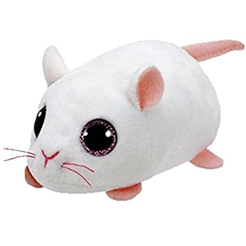 Ty- Raton Peluche, Juguete, Color Blanco, 10 cm (United Labels Ibérica 42216TY)