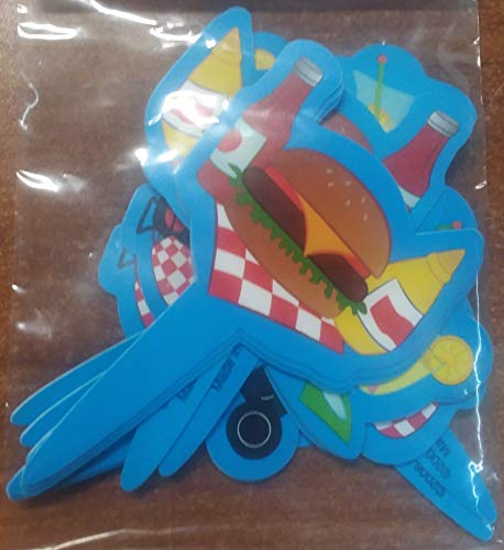 Decopac Blue Barbecue Decopic Cupcake Toppers 12 -