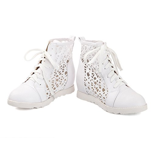 Adee Girls Heighten Inside Lace-Up Polyurethane Pumps Shoes White RoYsOt1y
